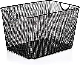 Mesh Open Bin Storage Basket Organizer for Fruits, Vegetables, Pantry Items Toys 2040 (1, 14 X 10 X 9)