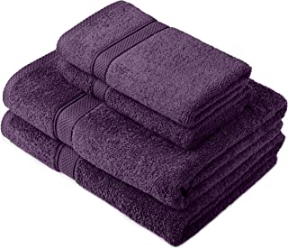 Pinzon by Amazon - Egyptian Cotton Towel Set, 2 Bath and 2 Hand Towels - Plum
