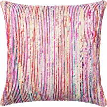 """Loloi Loloi-PSETP0242REMLPIL3-Red/Multi Decorative Accent Pillow 22"""" x 22"""" Cover w/Poly, 22"""" x 22"""", Red/Multicolor"""