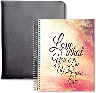 $49 » Tools4Wisdom Folio Planner 2021-2022 Calendar - April 2021 to June 2022 Academic Daily Planner with Executive Padfolio Fau...