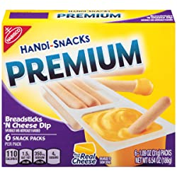 Handi Snacks Premium Breadsticks 'n Cheese Dip, 6.54 Ounce