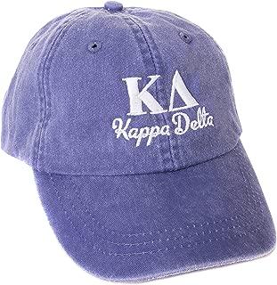 Kappa Delta (S) Sorority Embroidered Baseball Hat Cap Cursive Name Font KD