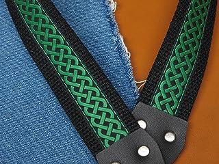 Celtic EMERALD ISLE Cotton USA-made A & F style TROPHY Mandolin Strap