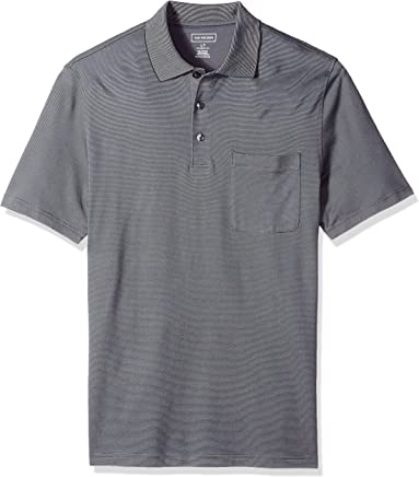 afb95f7e Van Heusen Men's Big and Tall Flex Jacquard Short Sleeve Stripe Polo Shirt