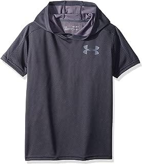 Boys Tech Textured Shorts Sleeve Hoodie