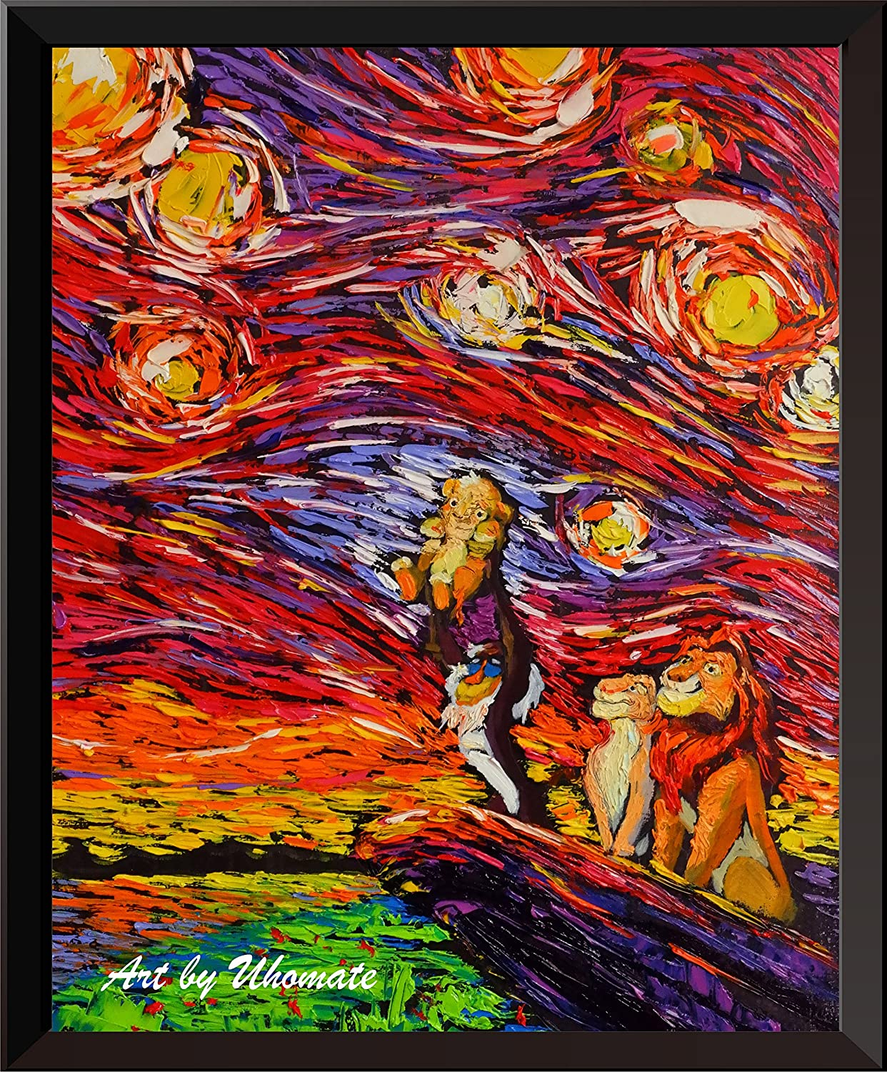 Uhomate The Lion and Son Poster Vincent Gogh Night Van Super Special SALE held Sales for sale Starry Po