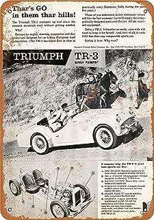 Wall-Color 9 x 12 Metal Sign - 1959 Triumph TR-3 Sports Car - Vintage Look