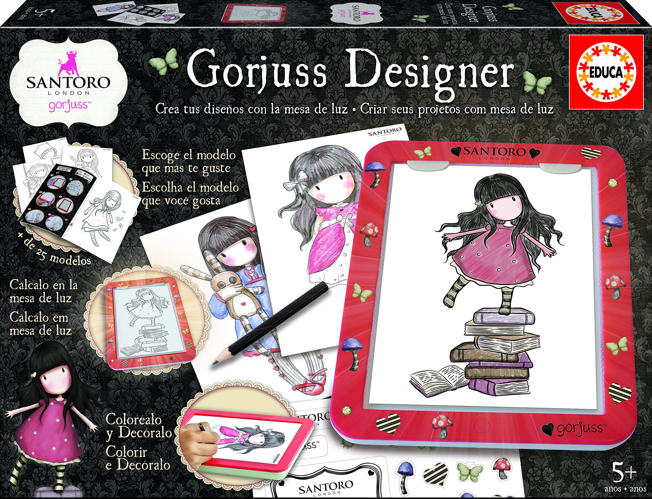 GORJUSS- Mesa De Diseño con Luz, 500 Piezas (Educa Borrás 17266): Amazon.es: Juguetes y juegos