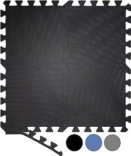Suelo Gimnasio Esterilla Puzzle de Fitness esterilla Mimnasia Alfombra Puzzle Espuma Mat Grande Protector de Suelo Gimnasio Suelo de Goma EVA 20 Colchonetas para el Suelo 40 Tiras para los Bordes