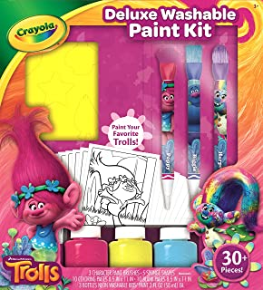 Crayola Trolls Washable Paint Set, Gift for Kids, Over 30Piece