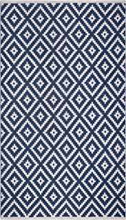 Fab Habitat Reversible PET Rugs - Handwoven   Indoor or Outdoor Use   Stain Resistant, Easy to Clean Weather Resistant   C...