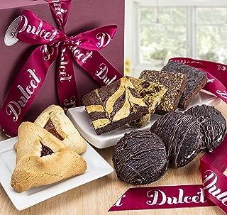 Purim Hamantaschen Gift Basket by Dulcet Gift Baskets- Chocolate Whoopie Pie Hamantash Chocolate Fudge Brownie