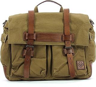 c1f1bd1597 Men's Shoulder Bag BELSTAFF 75610375 Colonial Messenger Mountain Brown  Canvas