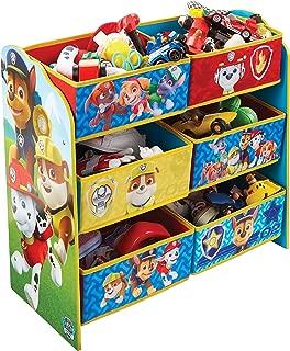 Paw Patrol Kids Bedroom Toy Storage Unit with Bins HelloHome Everest  Chase  Marshall  Skye  Rocky