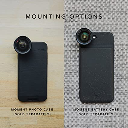 Moment Wide Lens - 18mm Attachment Lens for iPhone Pixel Galaxy OnePlus Phones
