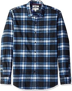 Marca Amazon - Goodthreads - Camisa de franela cepillada de manga larga y corte estándar para hombre