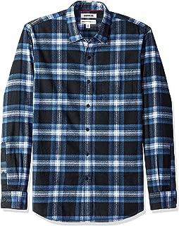 Men's Long-Sleeve Brushed Flannel Shirt