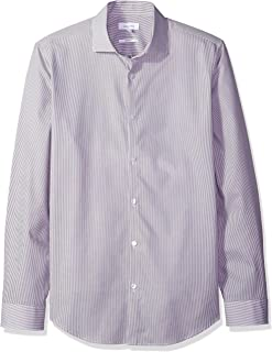 Calvin Klein Men's Long Sleeve Button Down Stripe Shirt