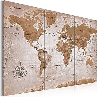 comprar comparacion murando - Cuadro en Lienzo 120x80 - Mapamundi - Impresión de 3 Piezas Material Tejido no Tejido Impresión Artística Imagen...