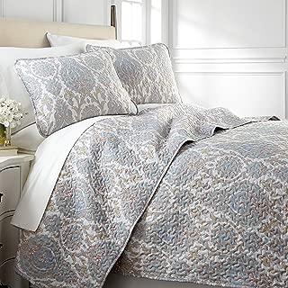Southshore Fine Living, Inc. Boho Paisley Collection - Oversized Quilt Set, Full/Queen, Aqua