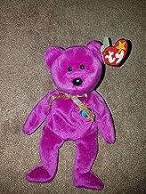 Beanie Babies - Teddy Bears MILLENNIUM the 2000 Magenta Teddy Bear - MWMT Ty Beanie Babies nn/nn Version