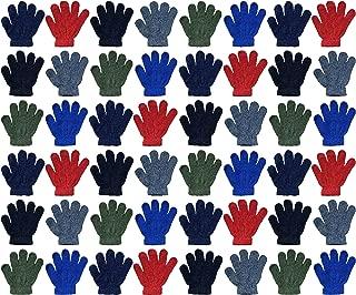 Yacht & Smith 儿童保暖冬季彩色魔法拉伸手套和手套,适合 2-5 岁儿童 48 Pairs Pack C NA