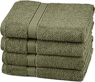Pinzon 4 Piece Egyptian Cotton Bath Towels Set - Moss