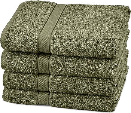 Pinzon Egyptian Cotton Bath Towel Set (4 Pack) - Moss