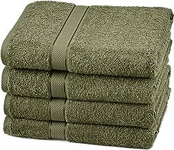 Pinzon Blended Egyptian Cotton, 100% Cotton, Moss, 4 Bath Towels