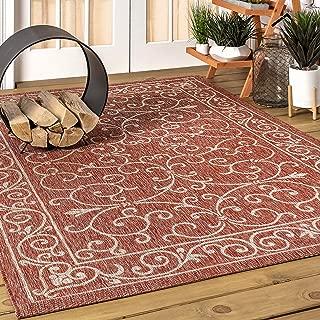 JONATHAN Y SMB106B-5 Charleston Vintage Textured Weave Indoor/Outdoor Area Rug 5' 3