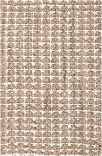 Safavieh Natural Fiber Collection NF188A Handmade Boho Farmhouse Woven Jute Area Rug, 4' x 6', Natural