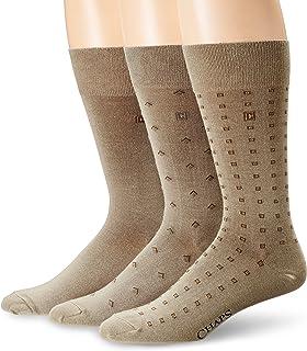 CHAPS mens Assorted Classic Fashion Pattern Dress Crew Socks (3 Pack)