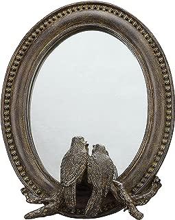 Creative Co-op Oval Resin Bird Mirror