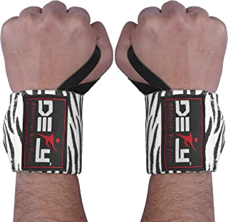 DEFY Fitness Wrist Wraps 18 Professional with Thumb Loops- Premium Quality,  Strong Fastening Straps- Men & Women – Best for Weightlifting,  Powerlifting, Strength Training & Crossfit