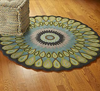 Best round peacock rug Reviews