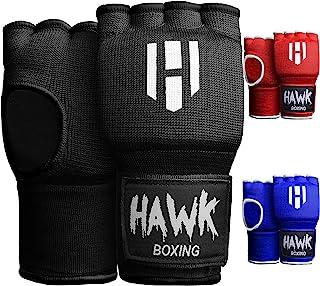 Hawk Padded Inner Gloves Training Gel Elastic Hand Wraps for Boxing Gloves Quick Wraps..