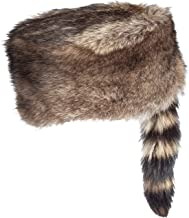 Overland Sheepskin Co Davey Crocket Raccoon Fur Cossack Hat