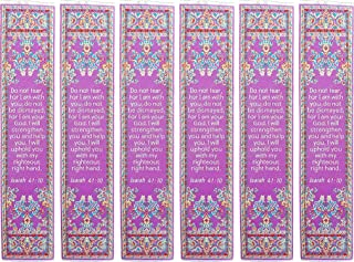 Do Not Fear, Bulk Pack of 6 Woven Fabric Christian Bookmarks, Silky Soft Isaiah 41:10 Flexible Bookmarker for Novels Books...