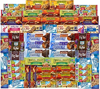 Ultimate Healthy Fitness Box - Protein & Healthy Granola Bars Sampler Snack Box (56 Count) - Care Package - Gift Pack - Va...