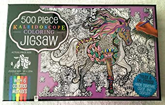 500 Piece Kaleidoscope Coloring Jigsaw Puzzle: Through the Fields