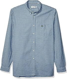 Mens Long Sleeve Oxford Gingham Button Down Regular Fit Button Down Shirt