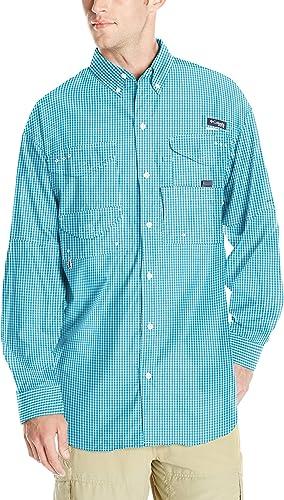 Columbia Hommes's Super Bonehead Classic manche longue Shirt, Riptide Gingham, X-grand