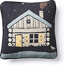 Donna Sharp Throw Pillow - Moonlit Cabin Lodge Decorative Throw Pillow with Cabin Pattern - Square