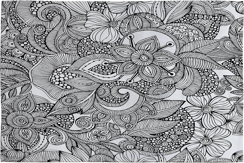 DENY Designs Valentina Ramos Doodles Woven Rug, 2 by 3Feet
