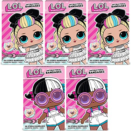 Adhesive Antibacterial Bandages for Minor Cuts Burns Scrapes 100 ct JoJo Siwa Kids Bandages Easter Basket Stuffers for Kids /& Toddlers Includes Glitter Bandages