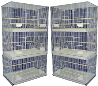 YML Small Breeding Cages, Pack of 6, White