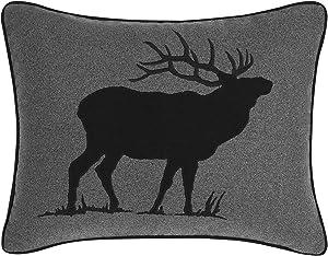 Eddie Bauer Elk Throw Pillow, 16x20, Charcoal