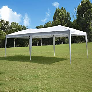 10'x20' Pop up Canopy Tent, Outdoor Canopy Tent, Waterproof Gazebo Portable Wedding Party Tent Carrying Case/Bag, Adjustable Folding Gazebo Pavilion Patio Shelter Without Sidewalls, Heavy Duty…
