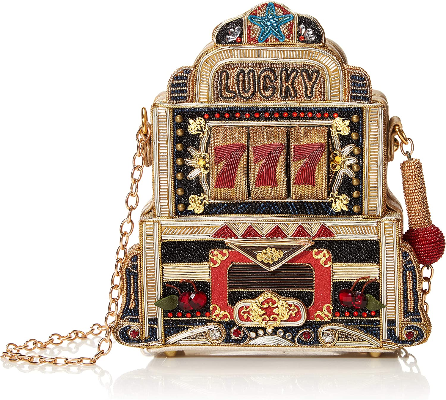 Mary Frances Lucky 7 Machine New sales Gold Handbag Slot New Orleans Mall
