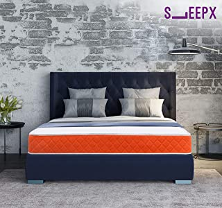 SleepX-Dual 6 Dual mattress - Medium Soft and Hard (75*60*6 Inches), Orange